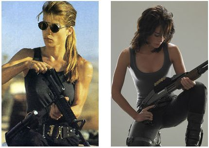 Sarah Conner (Linda Hamilton and Lena Headey)