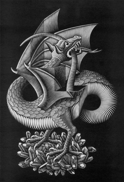 Parlons Art... - Page 2 Escher-dragon