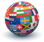 Translation Flags Globe