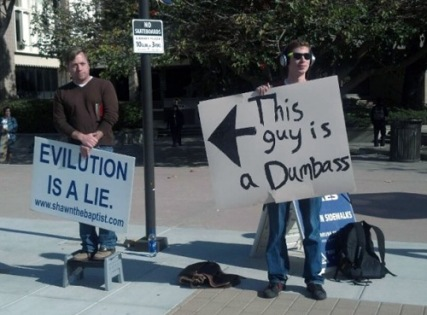 Evolution vs. A Dumbass