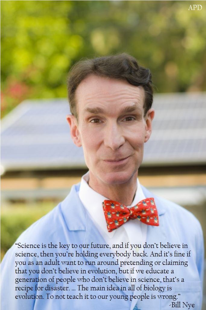 Bill Nye On Evolution
