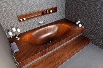 Elegant Bathtubs Made Entirely of Wood 03