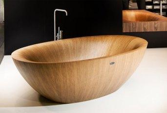 Elegant Bathtubs Made Entirely of Wood 08