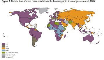 Alcoholic Drink Popularity by Country