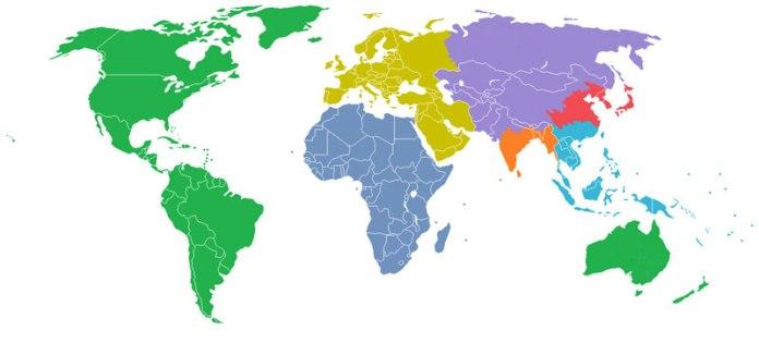 Population Divided Into 1 Billion Segments