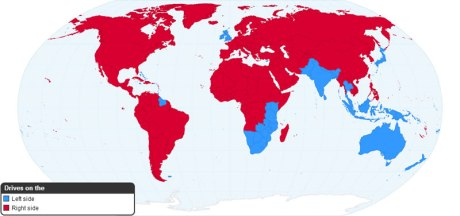 Worldwide Driving Orientation by Country