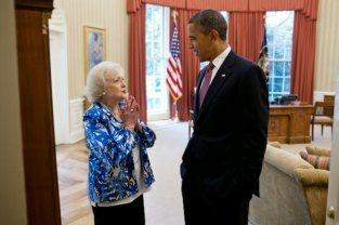 Betty White and Barack Obama