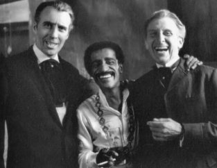 Christopher Lee, Sammy Davis Jr and Peter Cushing