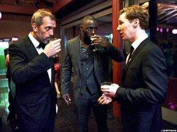 Hugh Laurie, Idris Elba and Benedict Cumberbatch