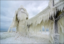 Lake Michigan's Famous Frozen Pier and Lighthouse 07