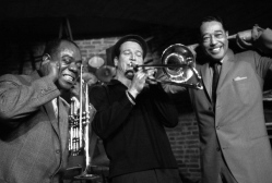 Louis Armstrong, Paul Newman and Duke Ellington