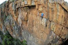 British climber John Roberts in South Africa