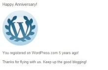 WordPress 5th Anniversary