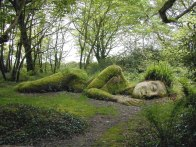 The Sleeping Goddess in The Lost Gardens of Heligan in England
