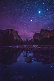 Yosemite Valley by Starlight