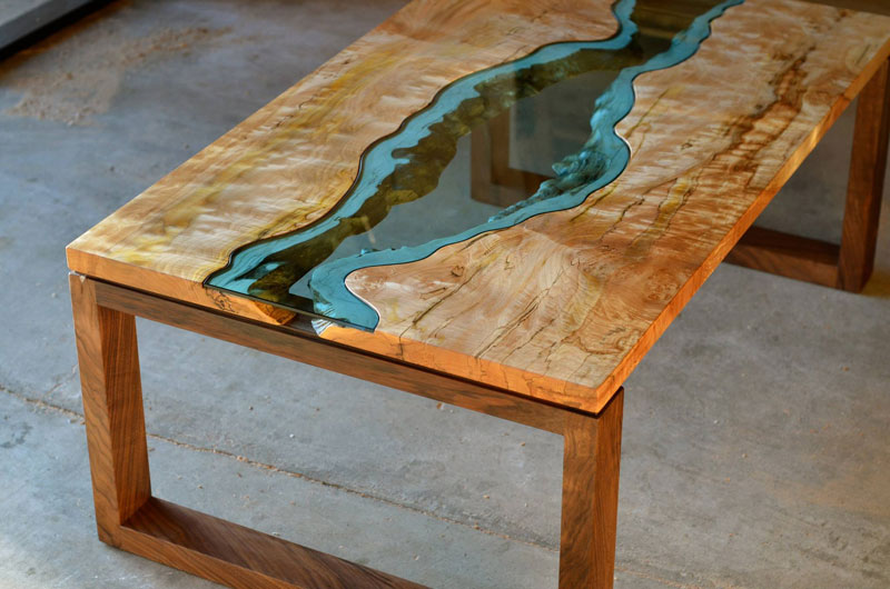 Furniture With Rivers Of Glass Running Through Them By Greg Klassen 1