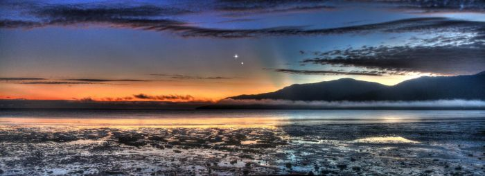 Venus Jupiter Conjunction Panorama 2 - Aug 17, 2014