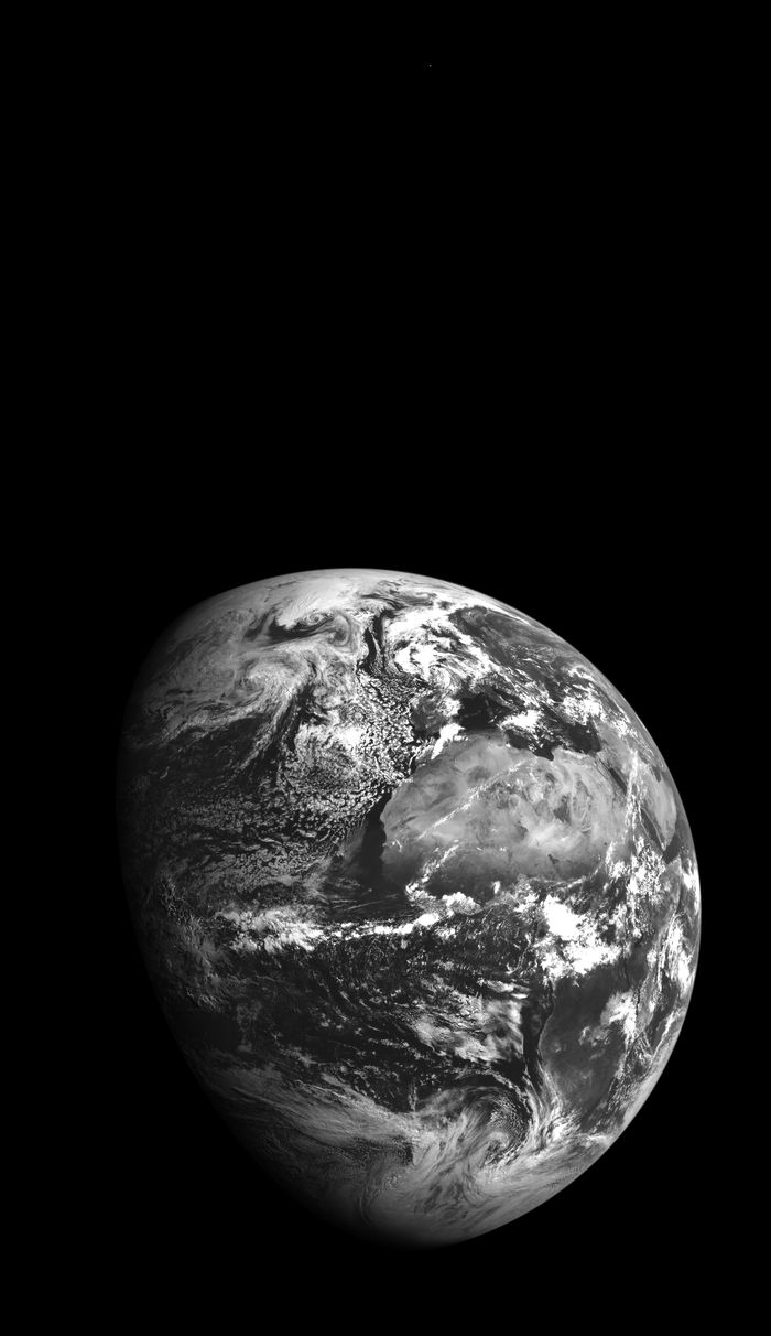 The Lunar Reconnaissance Orbiter turned for a quick look at Earth and one of our closest planetary neighbors—Mars!