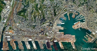 The Port of Genoa, Italy