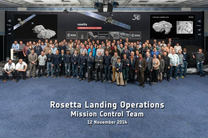 Rosetta Landing Operations Mission Control Team