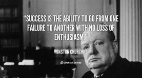 quWinston Churchill on Success